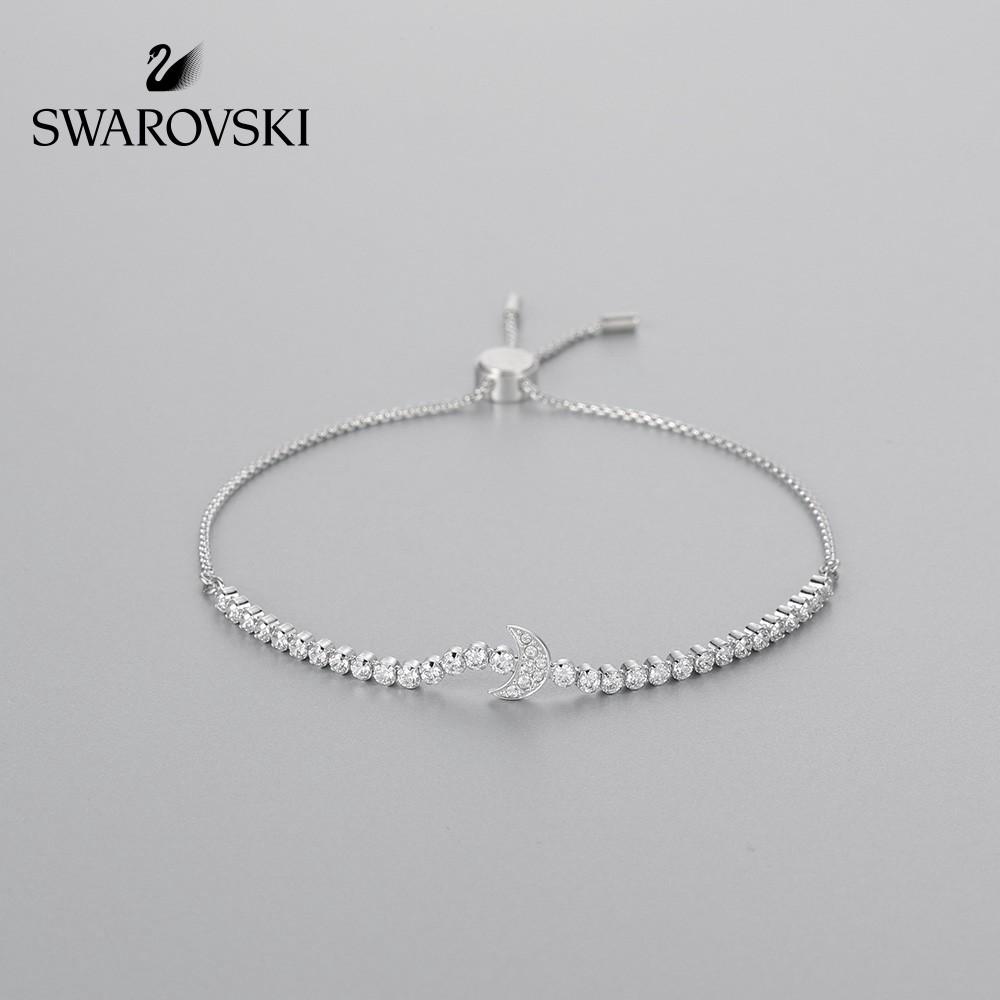 d68499b1fdf72 NEW Swarovski SUBTLE Moon Shape Bracelet Women's Simple Joker Bracelet