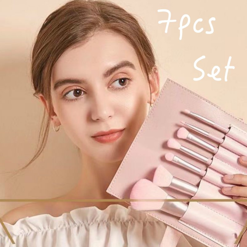 7pcs Makeup Brush Set Gift Set SkinReborn Premium Brushes Foundation Brush