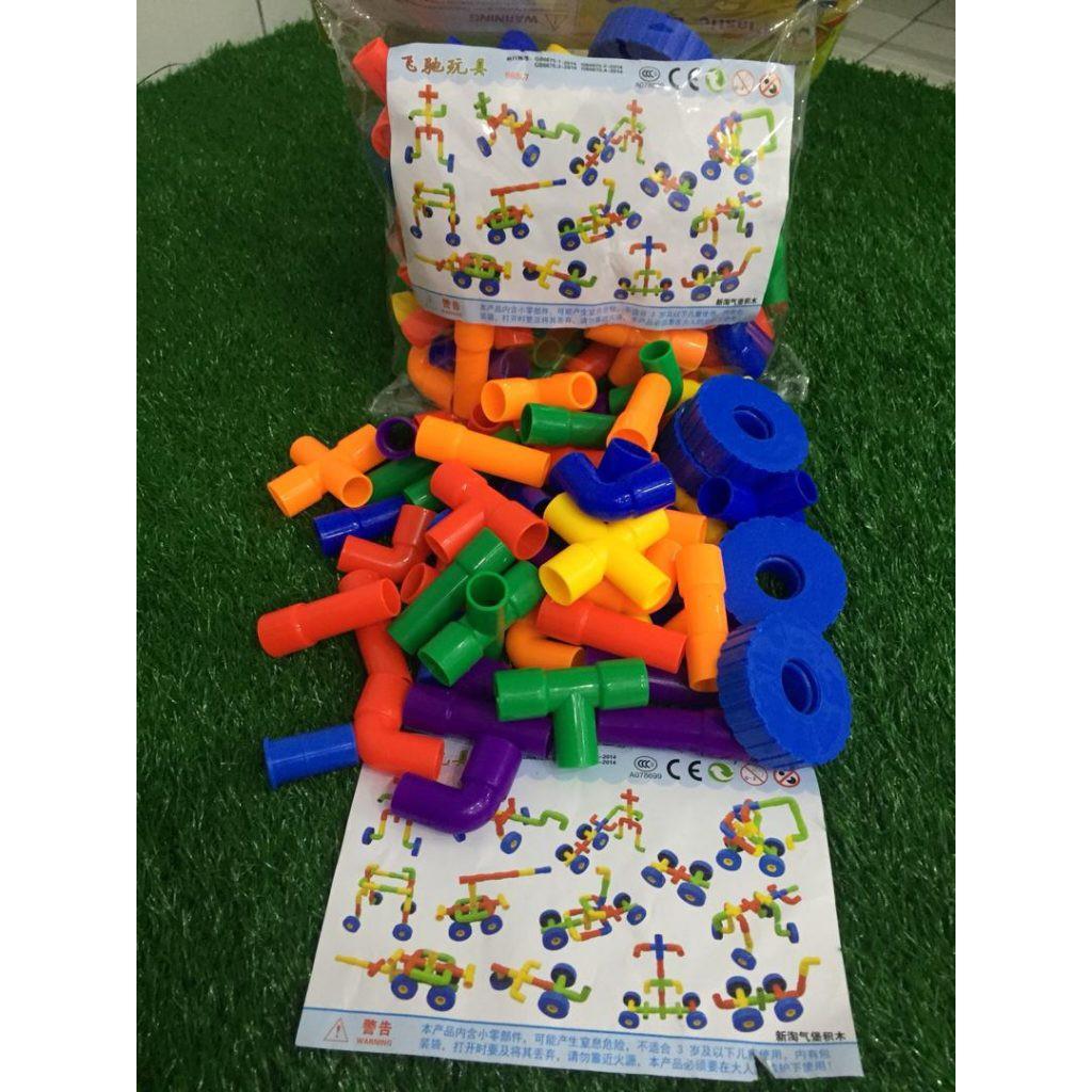 Lego Pipeline Ready Stock Colourful 57Pcs Ready Stock