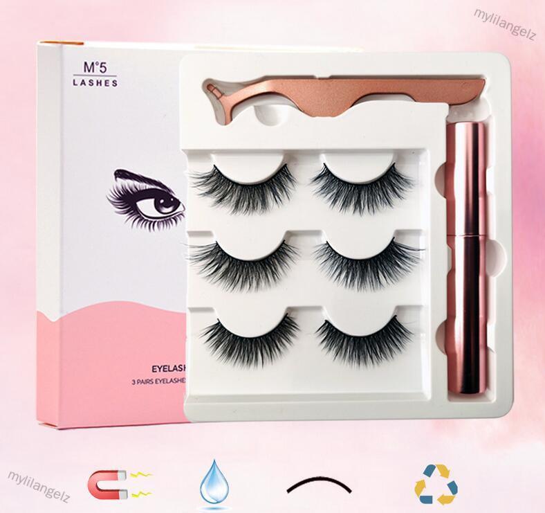 Mylilangelz Soft Magnetic Eyeliner False Eyelashes Tweezers Set for Beauty (READY STOCK)