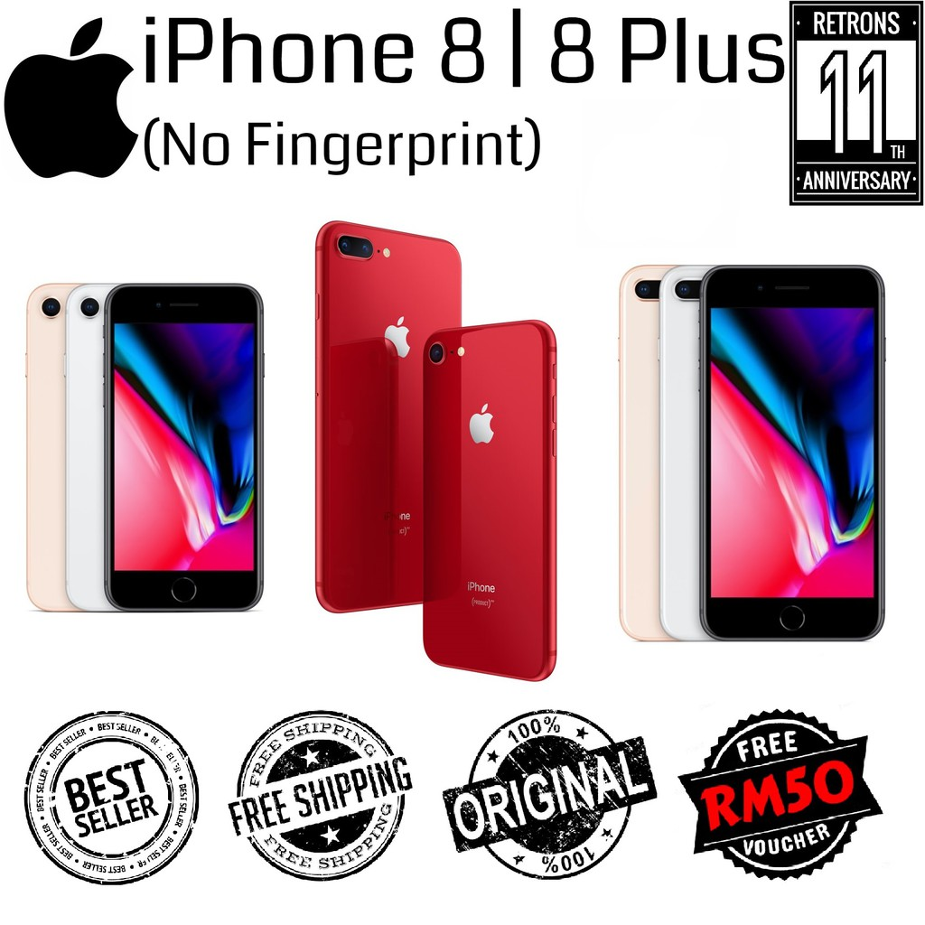 "🇲🇾 Original iPhone 8 | 8 Plus 95% Like New Used Phone [No Fingerprint] 1 Month Warranty ""New Arrival"""