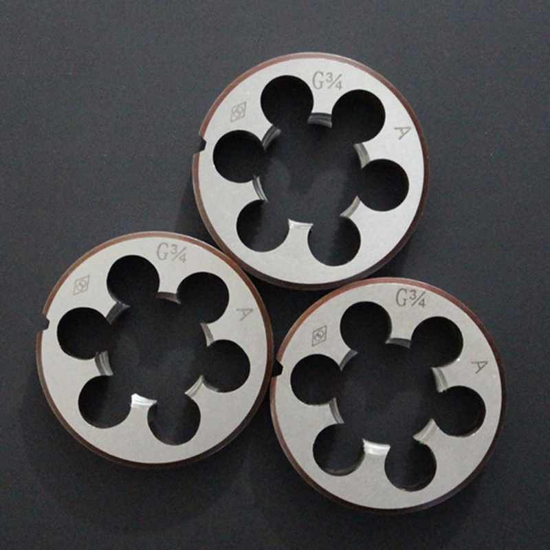 taps and dies Home Hand Tools High quality Round Die Durable High Duty Pipe Thread Round Dies BSP 1/8 1/4 HSS