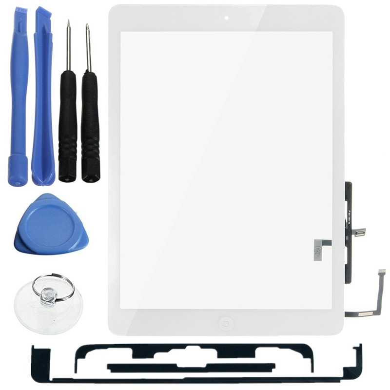 A1475 OEM White Touch Screen Digitizer for iPad Air w// Small Parts A1474