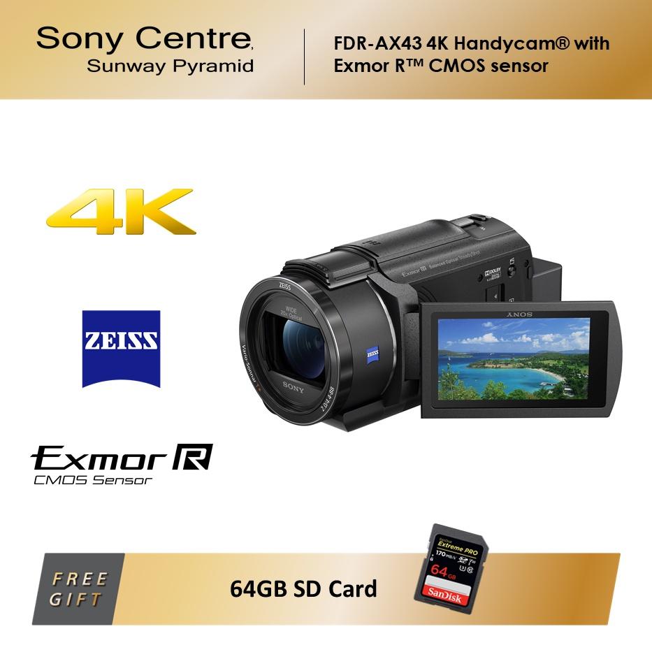 Sony AX40 4K Handycam® with Exmor R™ CMOS sensor (FREE GIFT) ( Sony Malaysia Warranty )