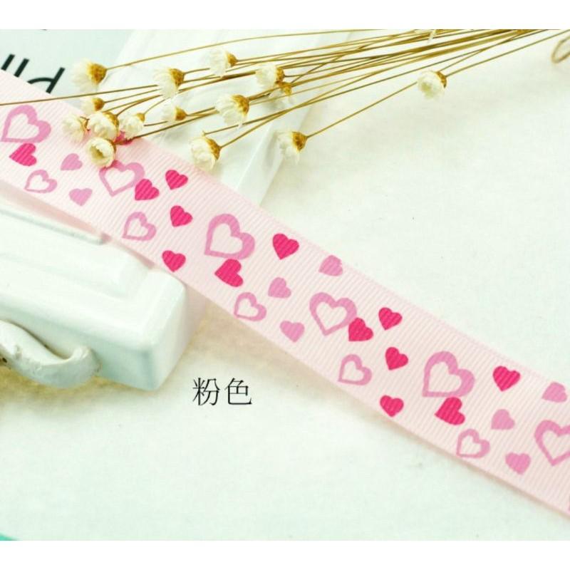 Ready Stock ~ 25mm / 2.5cm Grosgrain Loves Ribbon