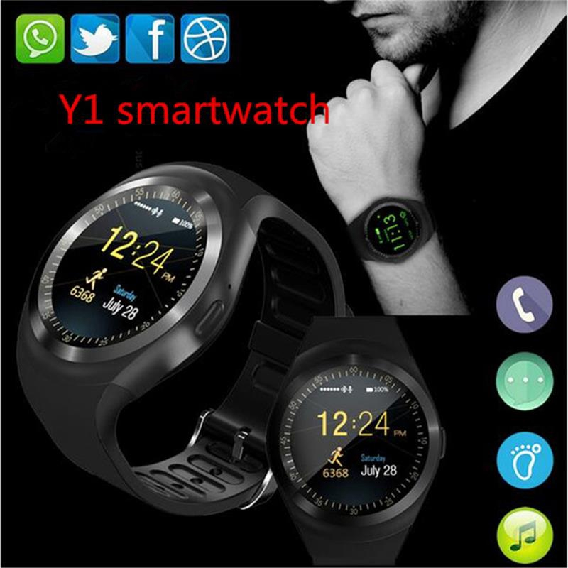 Bluetooth Y1 Smart Watch Android SmartWatch Phone Call GSM Sim Remote Camera Information Display Sports Watch