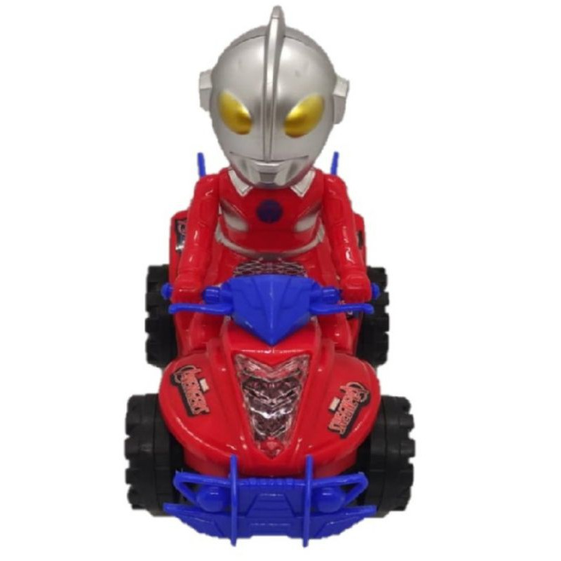 Ultraman bump and go car Car with 3D colourful lights and music car Racer battery type cars