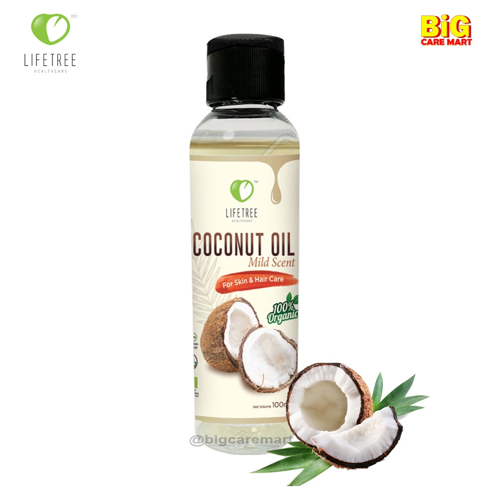 Lifetree Coconut Oil Organic 100ml [For Thicker Hair & Smooth Skin]