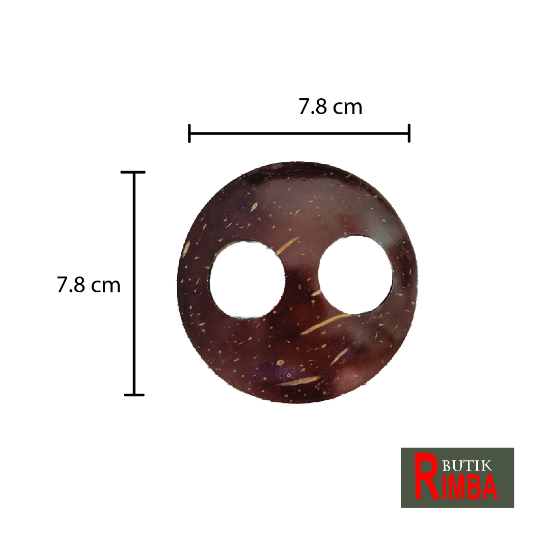 Buckle Coconut Shell Round Shape/Flower Shape for Styling Sarong/Pareo handmade