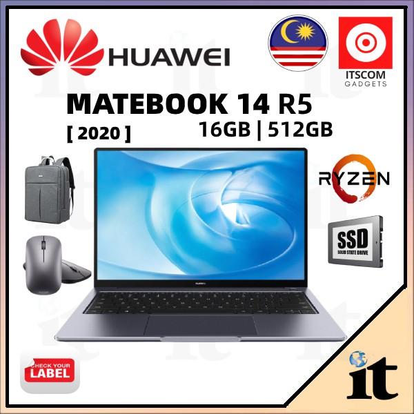 Huawei Matebook 14 R5 /i5 2021 (16GB RAM+512GB SSD) 2 Years Warranty + FREE GIFT
