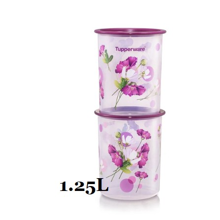 ❤APRIL 2021❤ Tupperware Royale Bloom One Touch Canister Junior  1.25L (2)