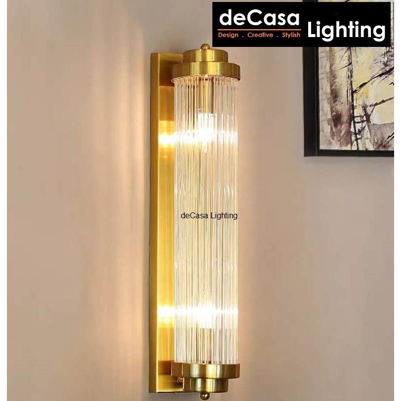 Decasa Lighting New Design Modern Glass Wall Light Indoor Decorative Wall Lamp Bedroom Bedside Lighting (B2006)