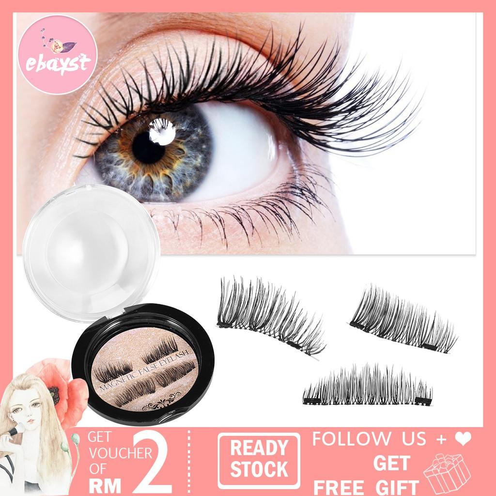 a267489f838 Natural Handmade Triple Magnetic False Eyelashes [Free Eyelash Holder] |  Shopee Malaysia