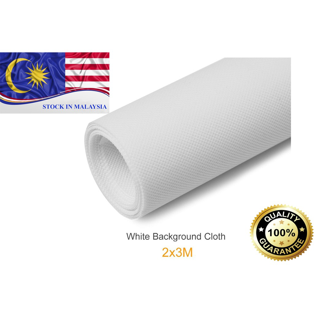 2x3m White Non-woven fabric Photo Photography Backdrop Background (Ready Stock In Malaysia)