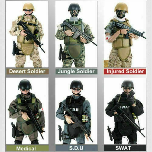 12inch Action Figure Army Soldiers SWAT//SDU//Medical//Injured//ACU Set Model F Game