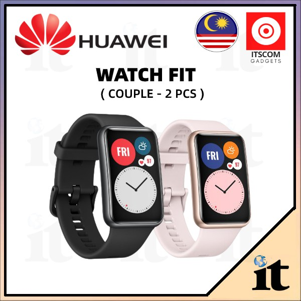 HUAWEI WATCH FIT - ORIGINAL MALAYSIA + FREE GIFT