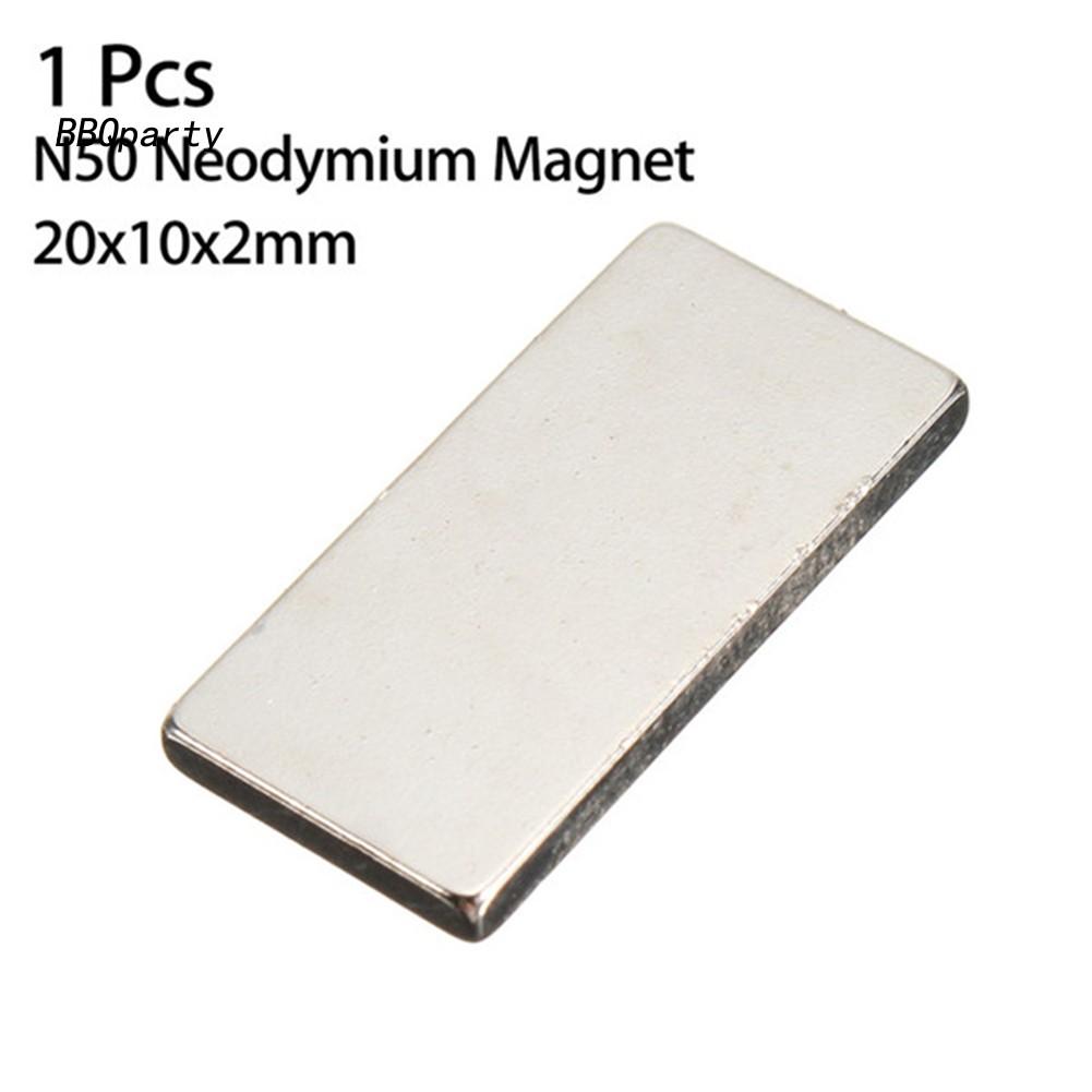 10Pcs 50x10xmm N48 Rectangle Super Strong Block Rare Earth Neodymium Magnet Stri