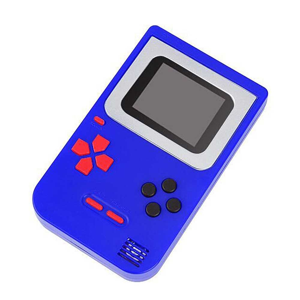 Handheld Game Console 2 Inch w/ 268 Games Retro Game Player Birthday Presents for Children (Blue)