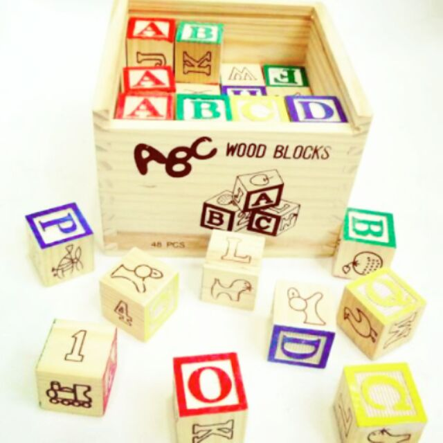 27 pcs ABC, 123 learning cube