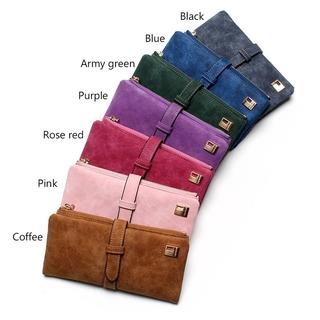 f4e0fe1d8d5622 Women Wallets Drawstring Nubuck Leather Zipper Wallet Women's Long Design  Purse | Shopee Malaysia