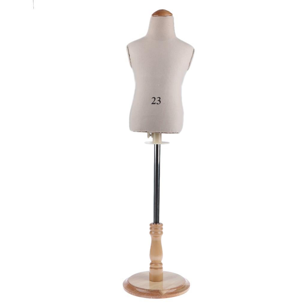 Clear-S Children Kids Mannequin Torso Designer Pattern Dress Form Stand Display Rack as described