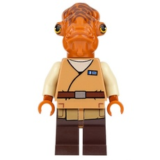 LEGO Star Wars : Admiral Ackbar (Medium Nougat Robe) Minifigure