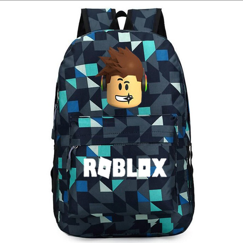 0f5862f8584a Cartoon Roblox Galaxy Backpack Student School Backpack Canvas Shoulder Bags