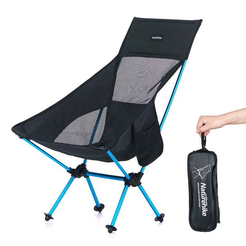726b53efbb №Naturehike Lightweight High Back Heavy Duty Folding Camping Chairs  Portable Collapsible Folding