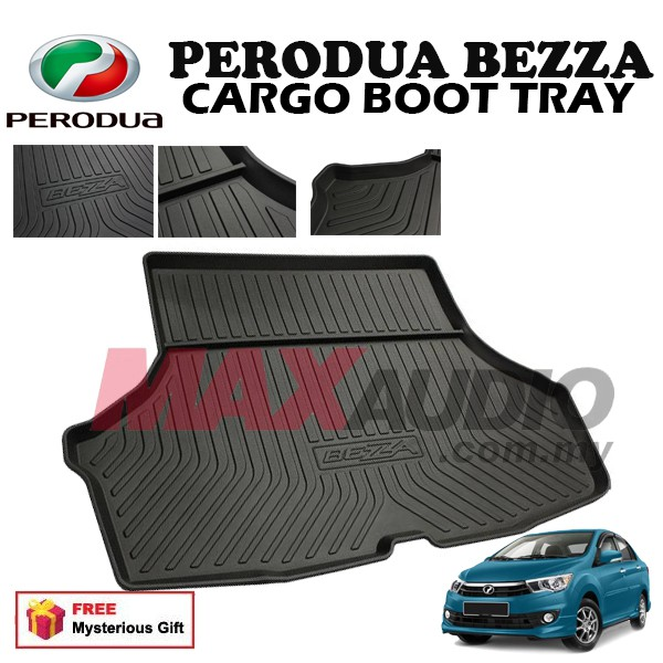 [FREE Gift] PERODUA BEZZA ABS RUBBER NON SLIP REAR TRUNK BOOT CARGO TRAY