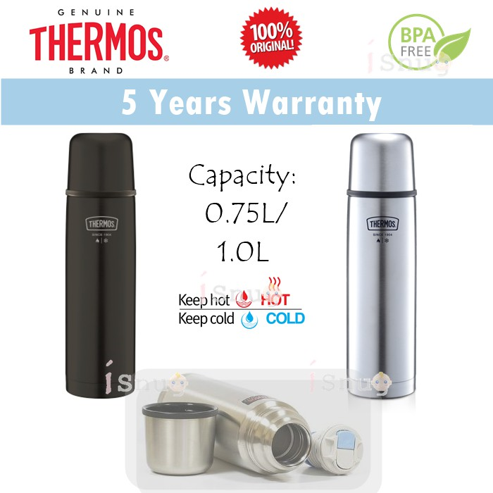 Thermos Light & Compact Flask 0 75L or 1 0L (FBB-751 FBB-1001)