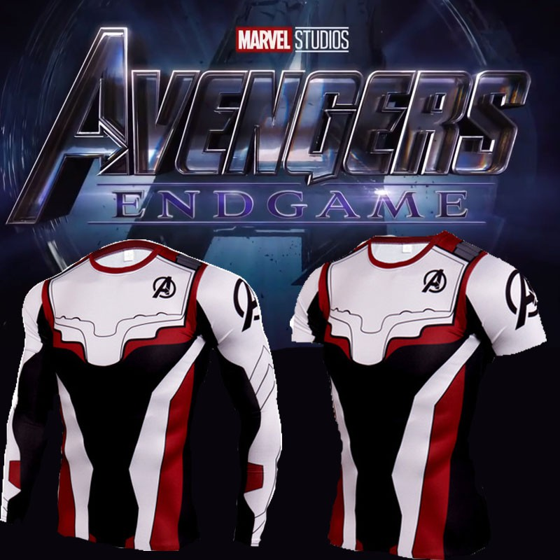 2593ba0c [Ready Stock] Avengers EG Quantum Suit T-shirt Endgame Cosplay Marvel 3D  T-shirt Cosplay