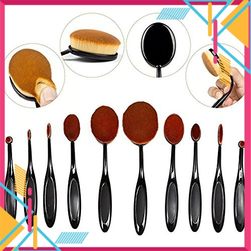 Oval Shape Multi-Function Professional Makeup (10 Pcs)