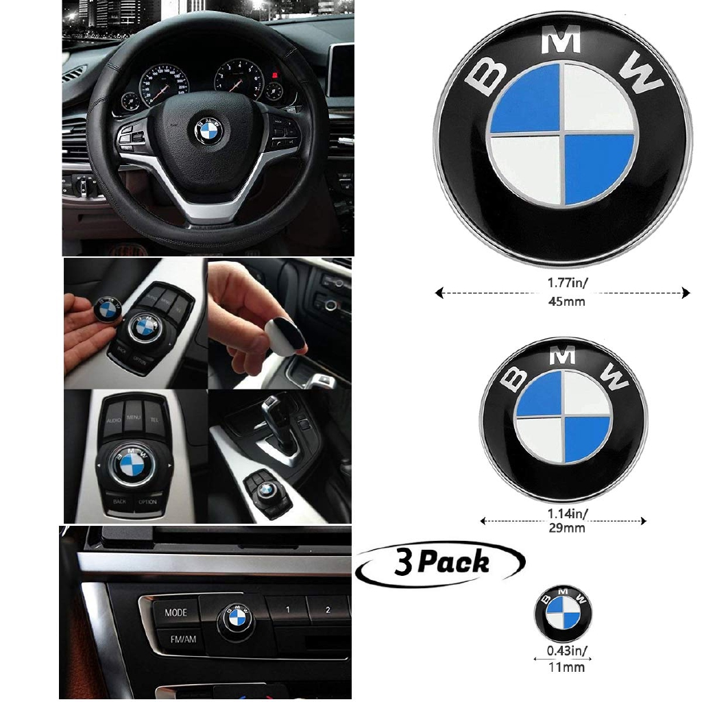 Bmw M Sport Steering Wheel Badge 45mm Vehicle Parts Accessories Car Parts