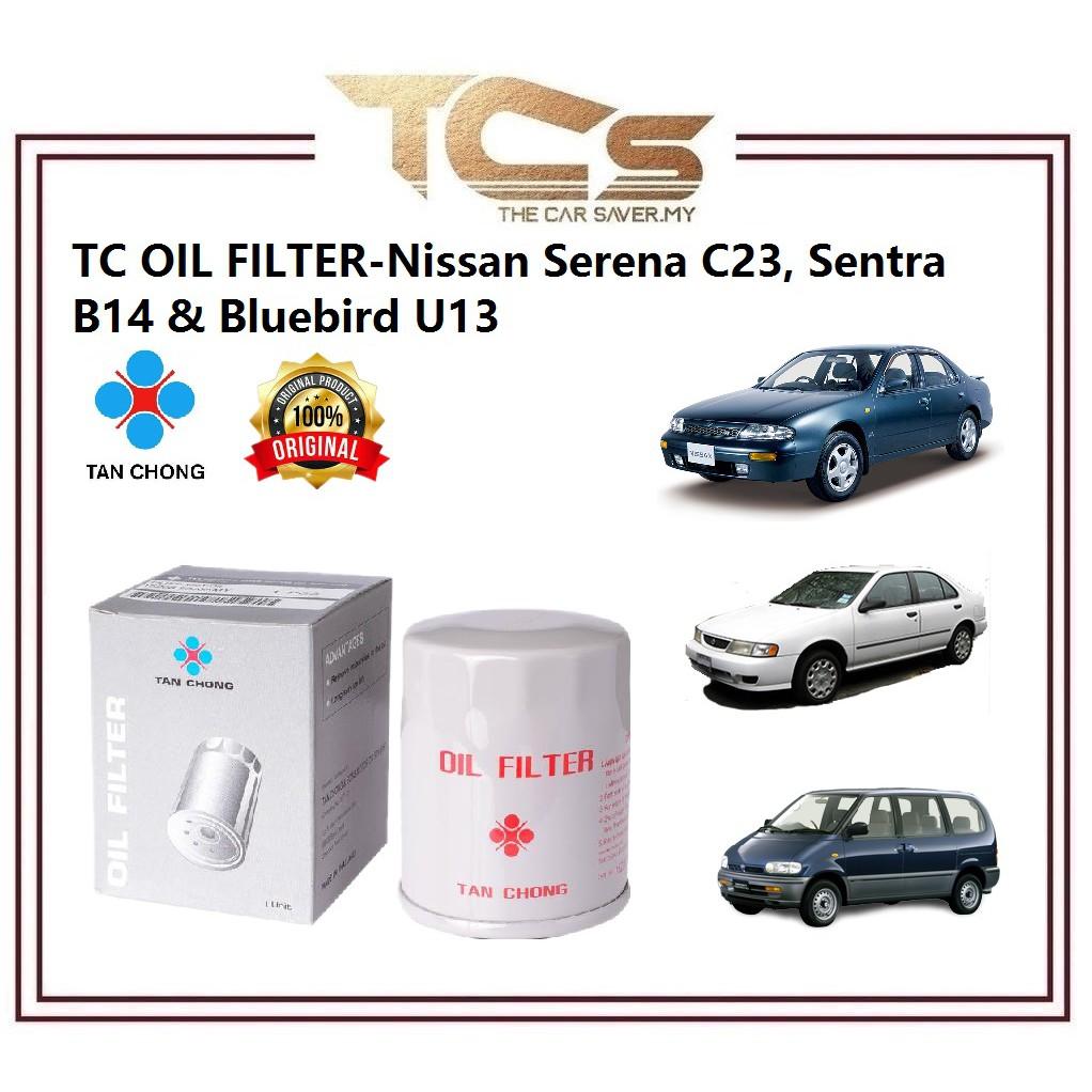 TC Oil Filter- Nissan Serena C23, Sentra B14 & Bluebird U13 (15208 53J0AMY)