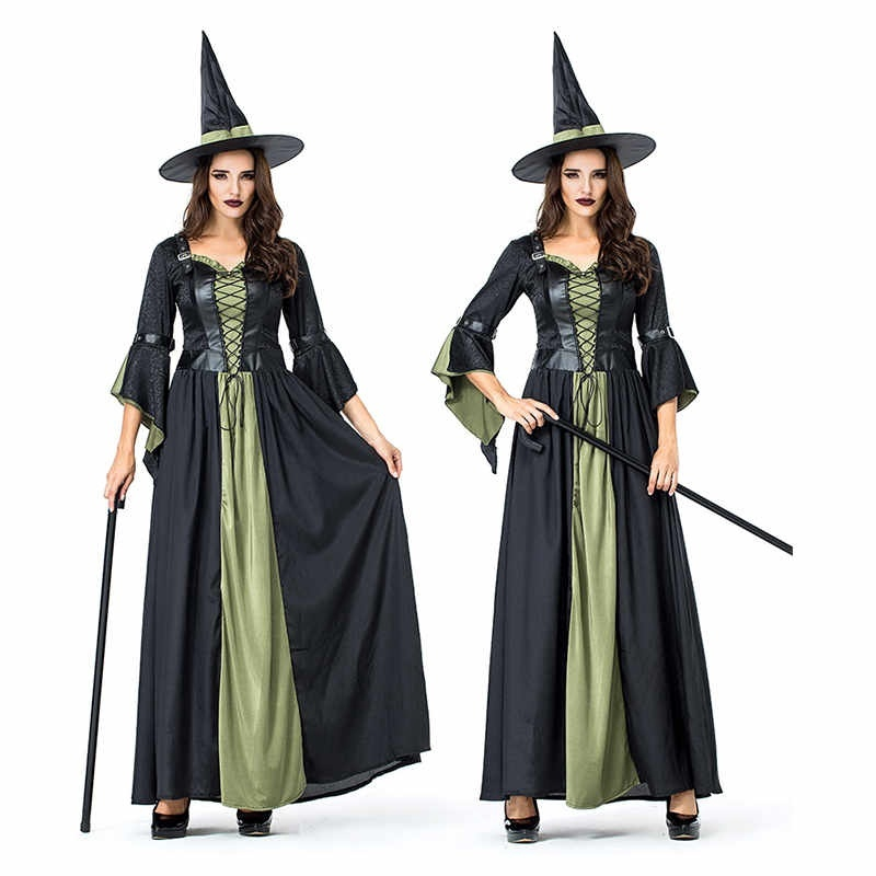 Halloween Men s Costumes Gothic Wizards Dress Up Party Clothes Cloak Wicca  Robe  d3ed640ca4a3