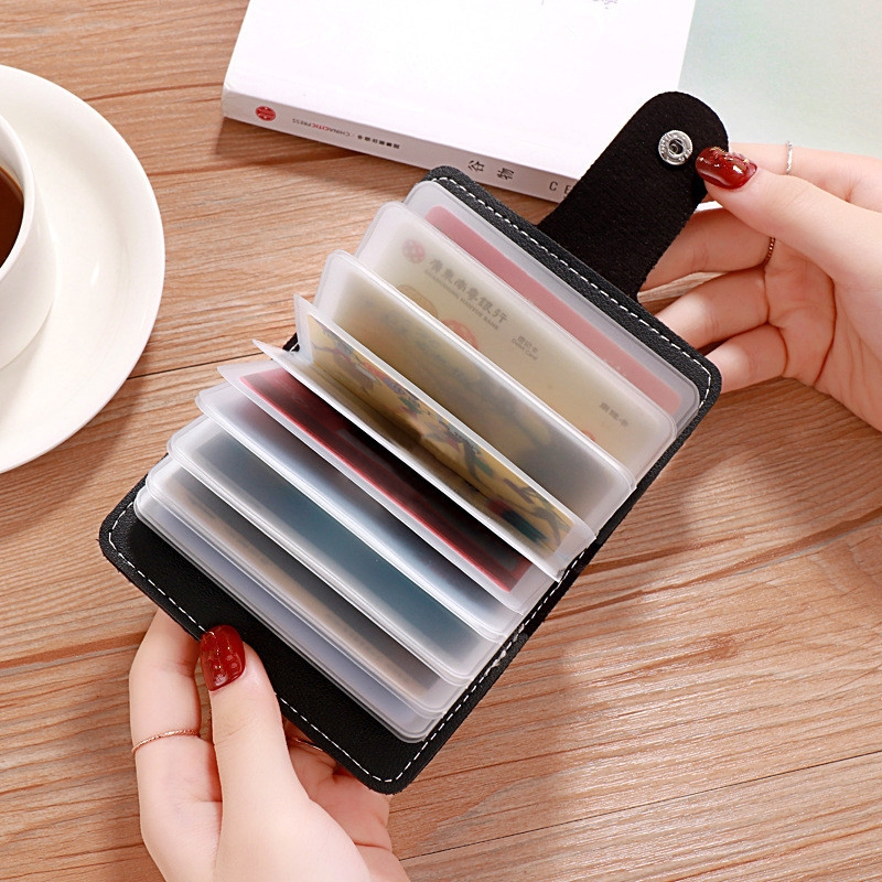 50d4a99543 24 Slots Credit Card Wallet ID Business Bank Cards Passport Cover Card Bag  Purse