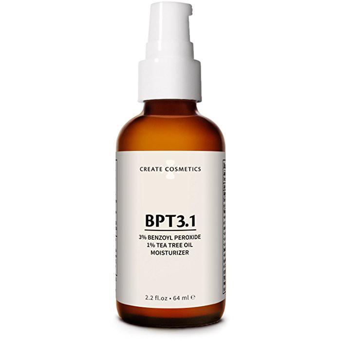 Acne Treatment 3% Benzoy Peroxide Tea Tree Oil for Cystic Acne Vulgaris  2 2oz