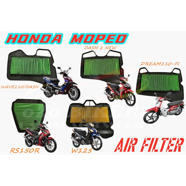 HIGH QUALITY MOTORCYCLE HONDA MOPED DREAM 110 FI, WAVE110 RS150R  DASH WAVE125 SERVISE FILTER ELEMENT AIR FILTER CLEANER