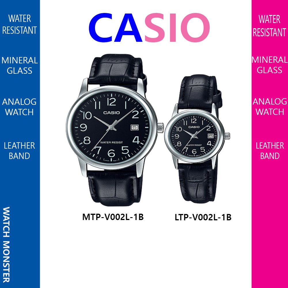 Casio Classic Analog Couple Watch Mtp V300g 1a Ltp Men V002l Black Shopee Malaysia