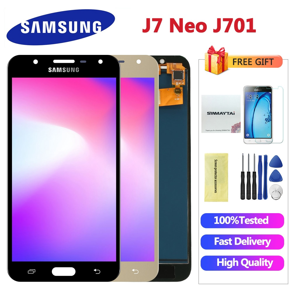 5 5'' inch For SAMSUNG Galaxy J7 Neo LCD Display J701 J701F J701M J701MT  Touch Screen LCD Assembly Replacement Parts