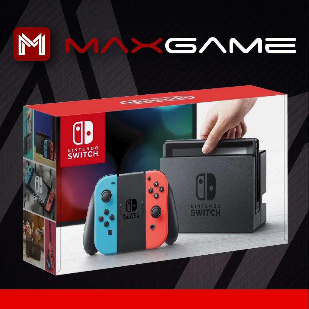 Nintendo Switch Neon Console(1 Year MaxSoft Malaysia Warranty)+ Tempered  Glass