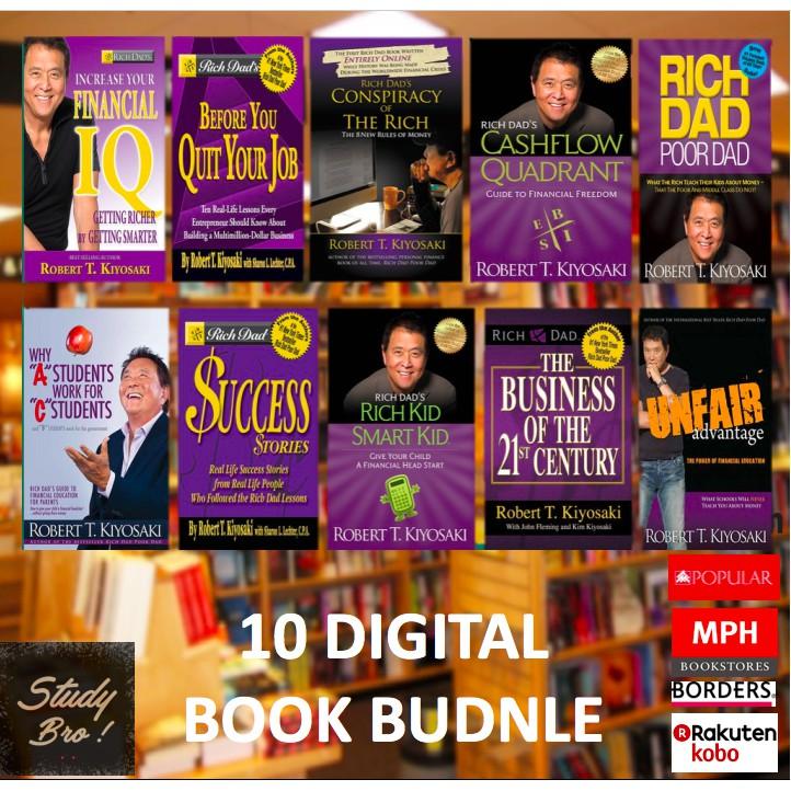 10 Digital Books Bundle The Rich Dad book series by Robert Kiyosaki | 10  DIGITAL BOOKS BUNDLE