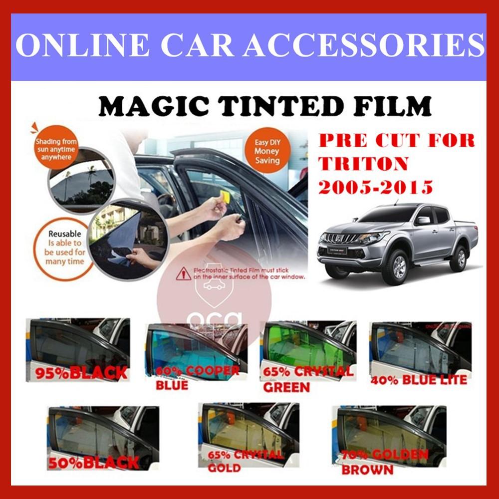 Triton 2005-2015  - Pre-Cut Shape Magic Tinted Solar Tinted (4 Windows & 2 Triangle /4 Windows+Rear)
