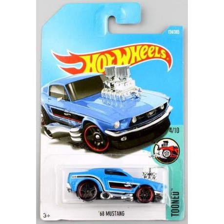 Hot Wheels 2017 #124//365 1968 ford MUSTANG blue Tooned New Casting