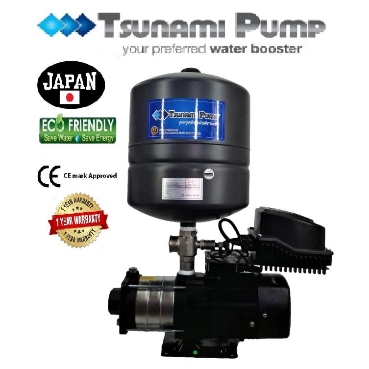 Tsunami CMH4-40T-EQ(PT) Home Horizontal Multi-Stage Pump Water Pressure Pump Booster Pump【1 Year Warranty】