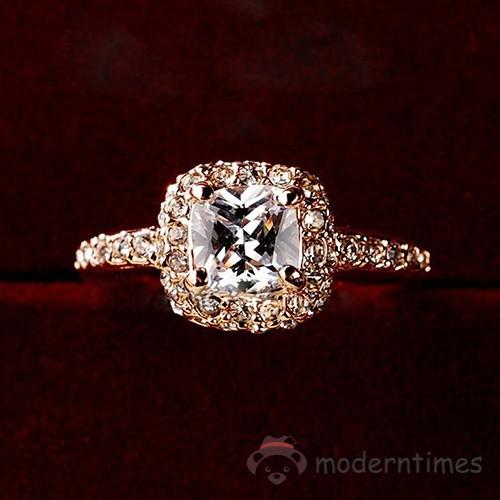 331d7bde50 ✡MT✡ Bridal Women Charming Wedding Engagement Party Shiny Luxury Rhinestone  Alloy Ring Fashion Jewel