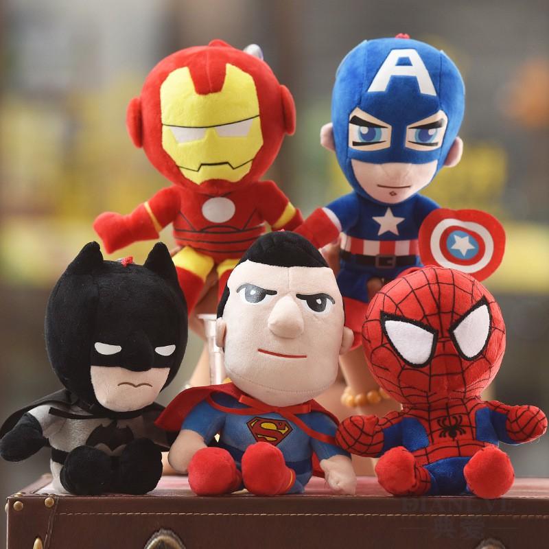 Plush Toy Children Gift Superhero Marvel DC Spiderman Superman Stuffed Toys