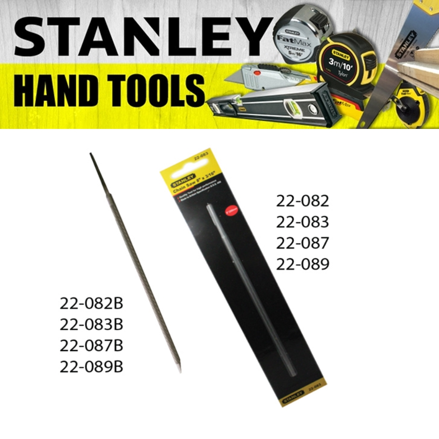 STANLEY CHAIN SAW FILE 4X200MM 5X200MM 6X200MM 6.25X200MM PAINTING FINISHING TOOL