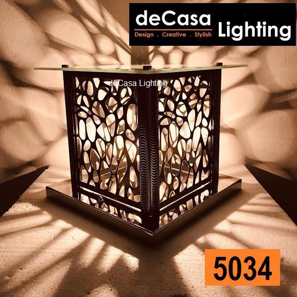 250mm Modern Glass Outdoor Pillar Light Decasa outdoor Gate Light Lampu Pagar Hiasan 5034 / 5035 / 5037