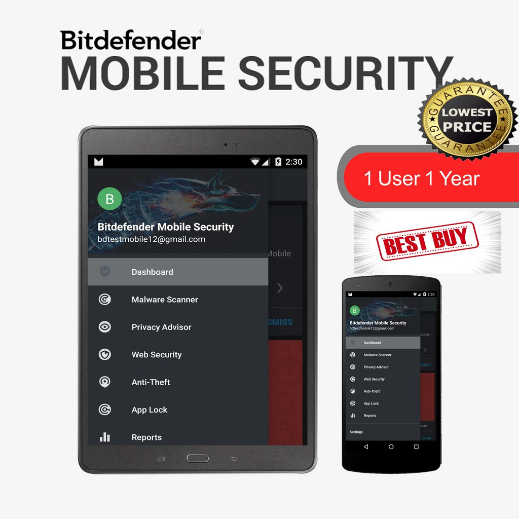 Bitdefender Mobile Security 2019 1 User (1 Year) - Online Version